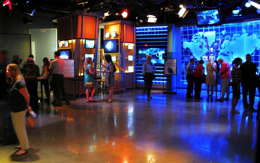 "The ""America's Most Wanted"" studio at the Crime Museum"