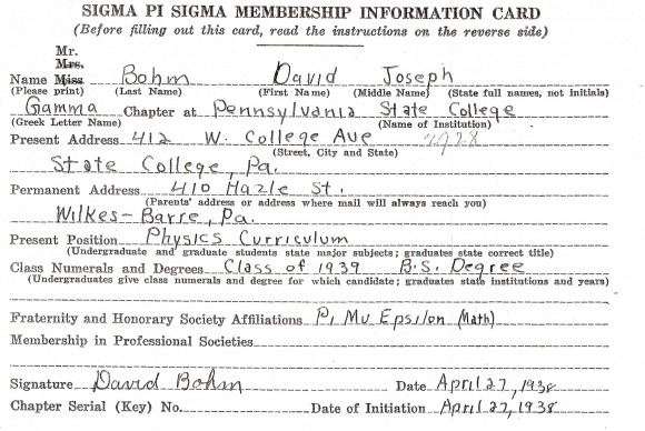 David_Bohm_Sigma_Pi_Sigma_card