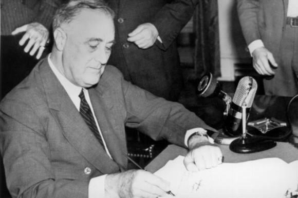 President Franklin D. Roosevelt issued the most executive orders at 3,721. Image in the public domain, downloaded from Wikimedia Commons.